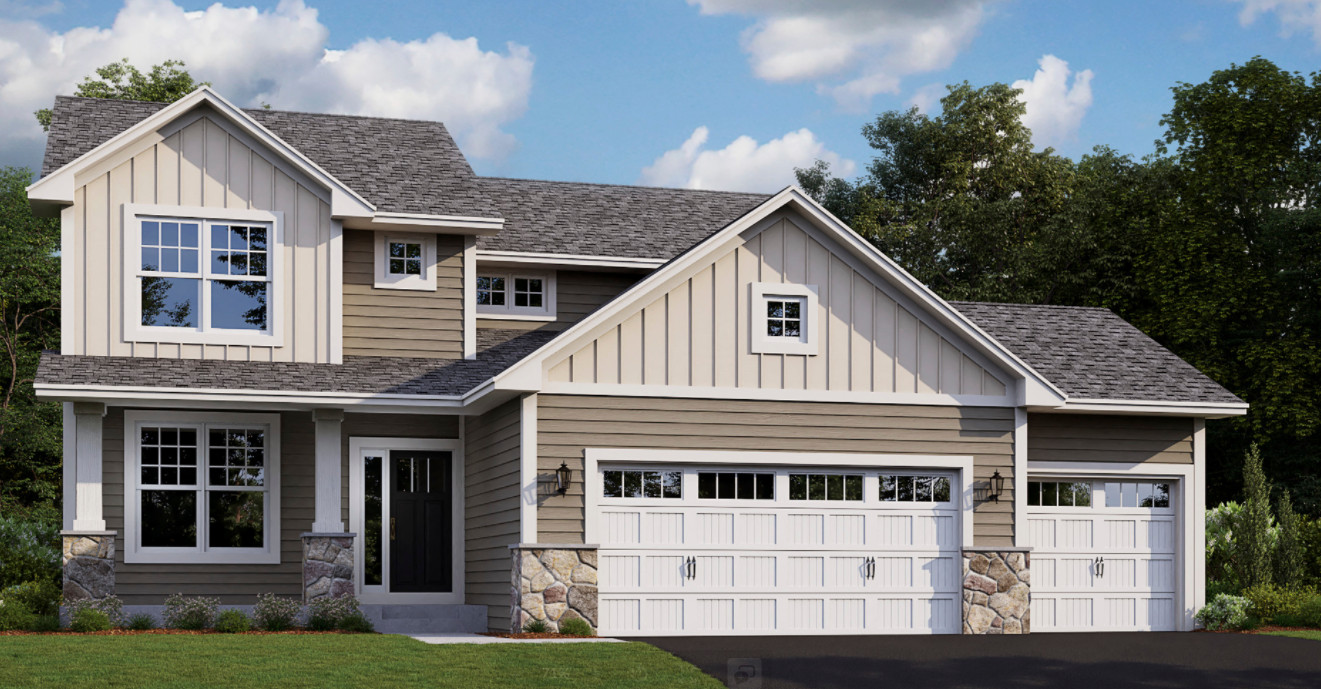 Welcome! The Vanderbilt - 4 bdrm-3 bath two story home. This nicely updated home is located on a walkout homesite w/unfinished lower level. Irrigation, sod & partial front landscape included offers a nice curb appeal! Photo is a rendering only.