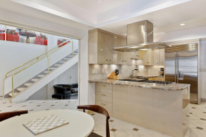 Kitchen can be accessed from three different locations in the home.