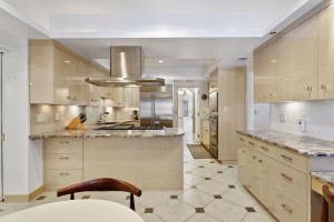 High end Viking appliances and modern, custom cabinetry.