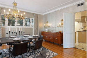 Kitchen access flows into the dining area allowing for optimal gathering space.