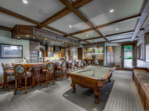 Stunning entertaining area in the lower level