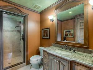 Beautifully finished lower level bathroom