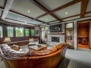 Lower level family room finished with the incredible details