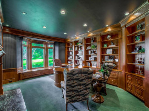 Large main floor office with fine details