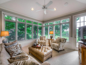 Enjoy mornings in this sunroom with great views