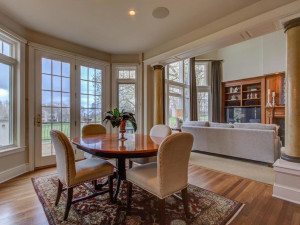 Informal dining area which is open to the main level family room