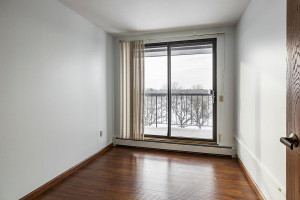 2nd bedroom or den/office has sliding glass doors to double balcony