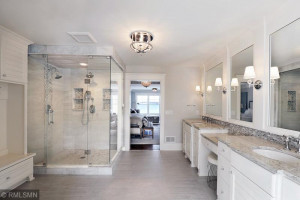 Master Bath with Marble Shower and Heated Floors