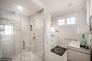 Guest Suite Bath with Roll in Shower and Heated Floors