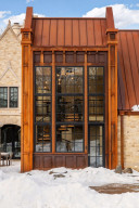 This home consists of 75 tons of steel and two million regionally quarried stones from Somerset, Wisconsin.