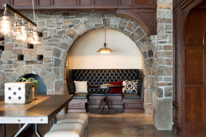 The lower level has the charm and feel of a classic speakeasy bar.