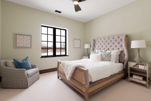 The guest suite located in the lower level includes a full bathroom.