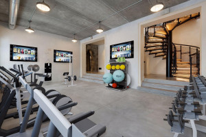 This is a fantastic space for a home gym (virtually staged).