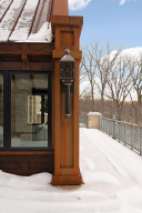 The private owner's suite balcony overlooks the nature preserve.