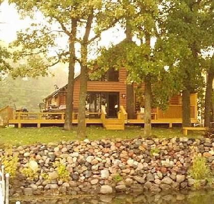 Gorgeous A-frame with wrap around deck, outdoor kitchen and hot tub.