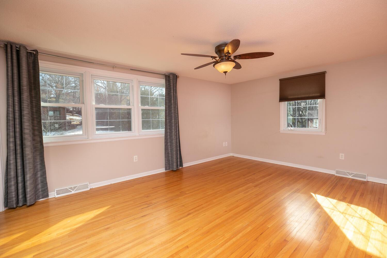 Upper Level Master BR with real oak flooring