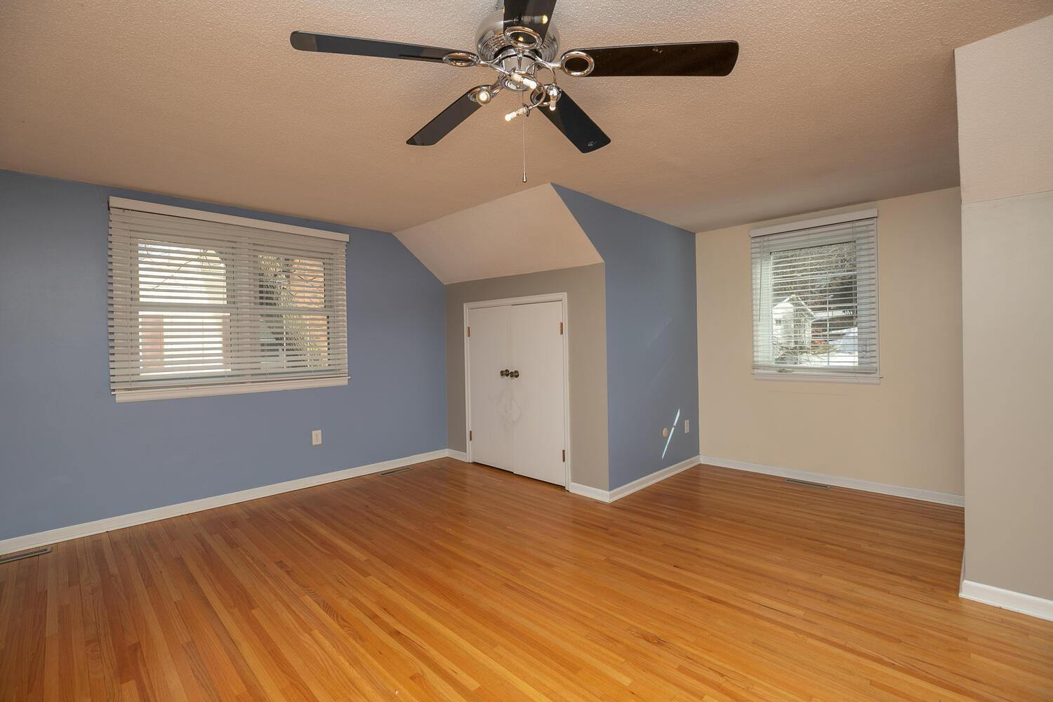 upper level 4th BR with real oak flooring