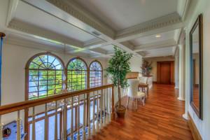 50 foot hallway between upper level master suite & bedroom suites.