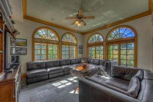 Sun room just off the casual dining & main kitchen.
