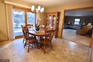 dining room - large opening to living room