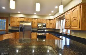 kitchen - granite countertops, custom cabinets