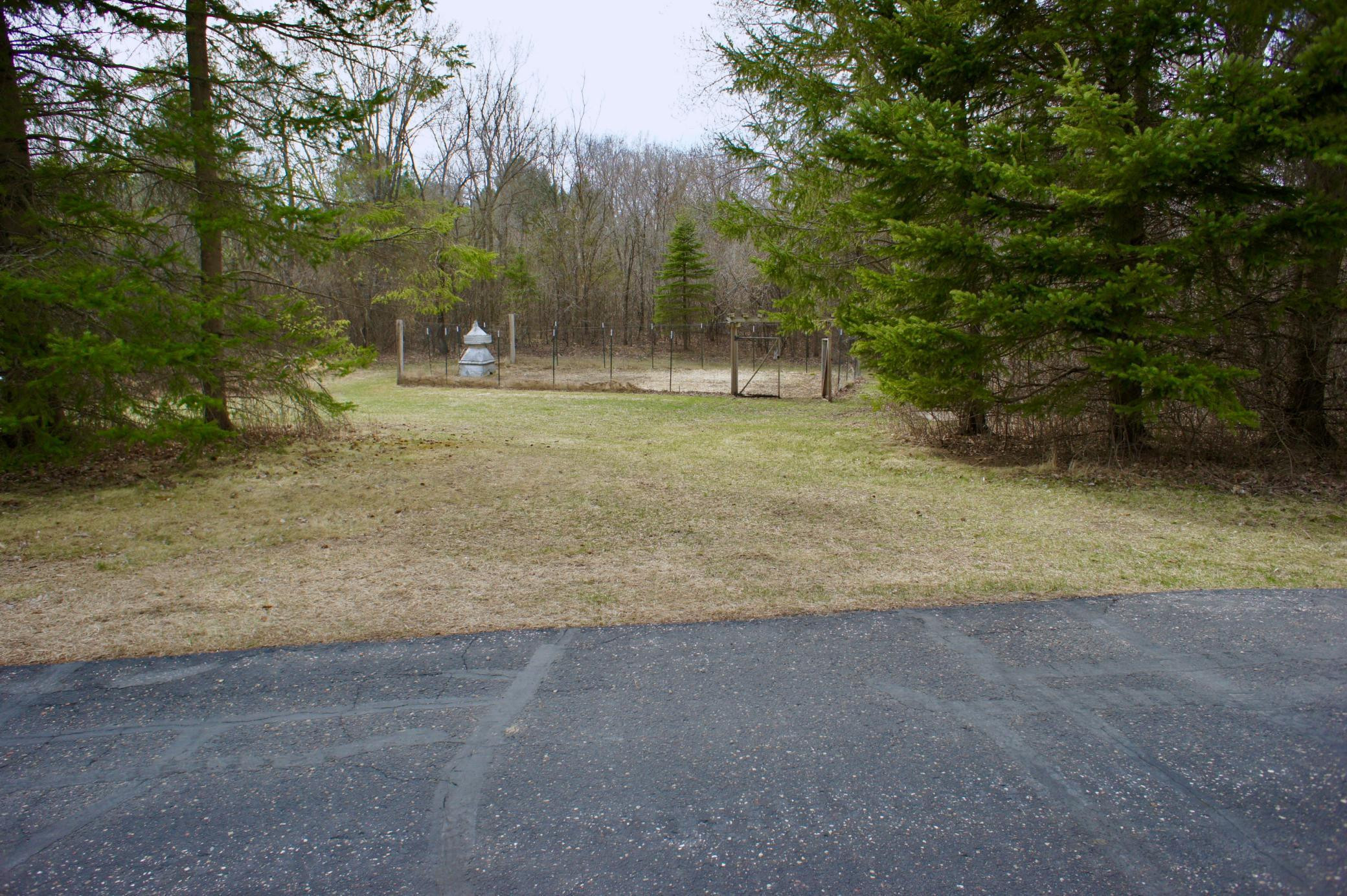 Here's your already fenced garden area that is just off a trail that circumvents the whole property.