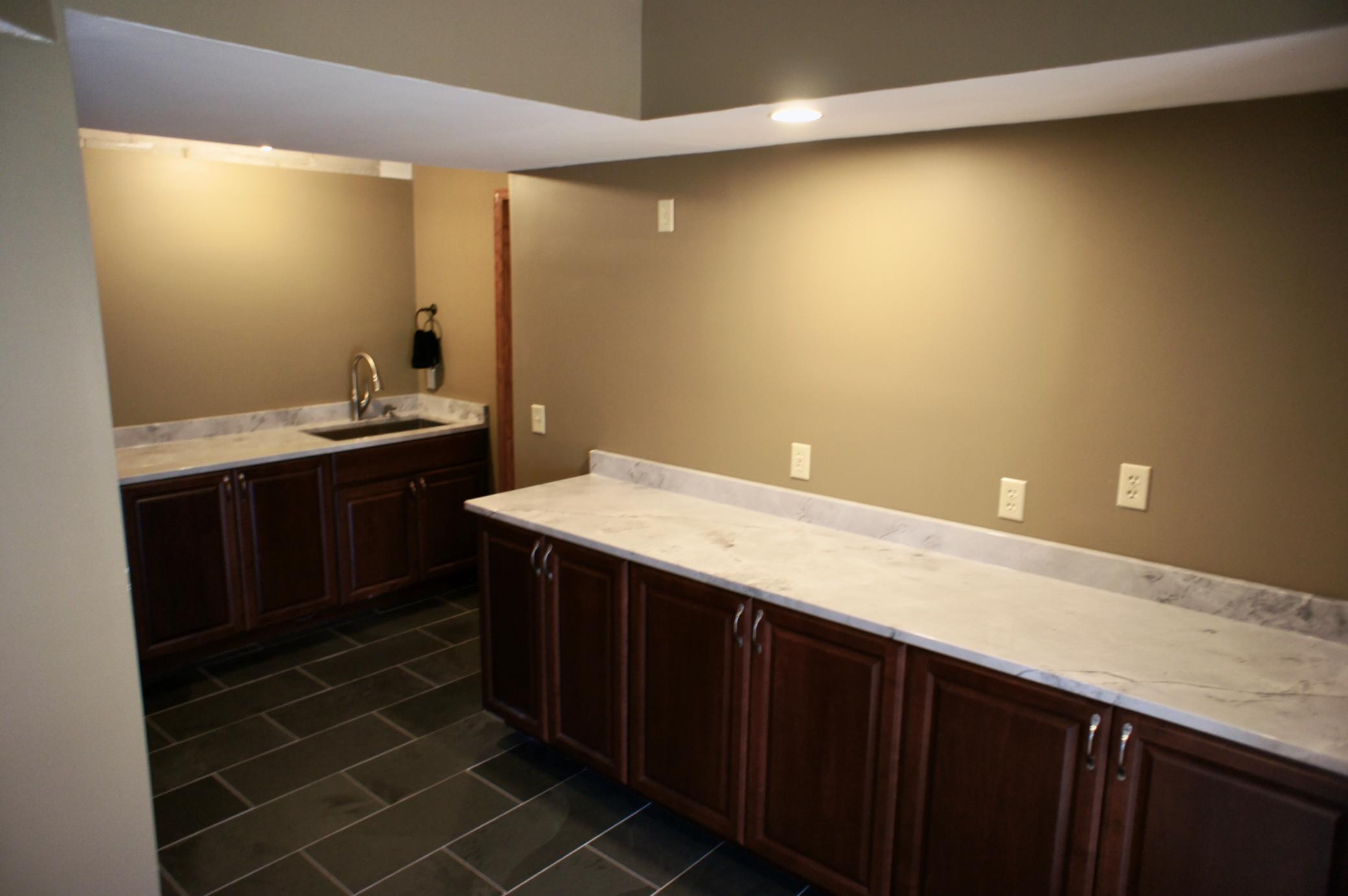 This is one nicely remodeled laundry area.