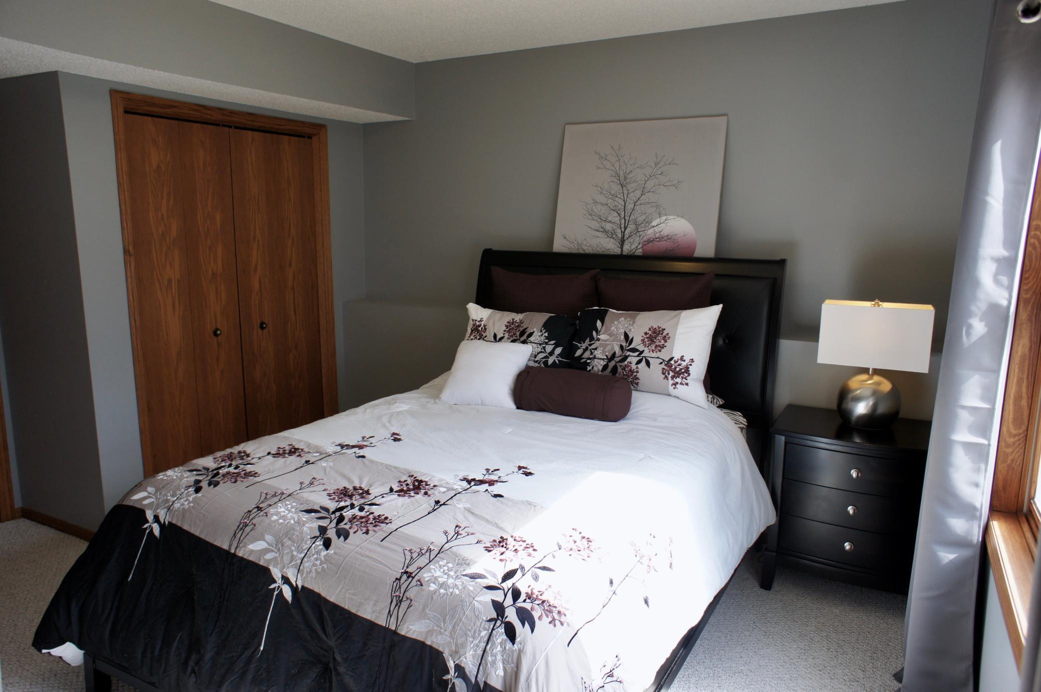 A 4th bedroom in the lower level with full lookout windows.