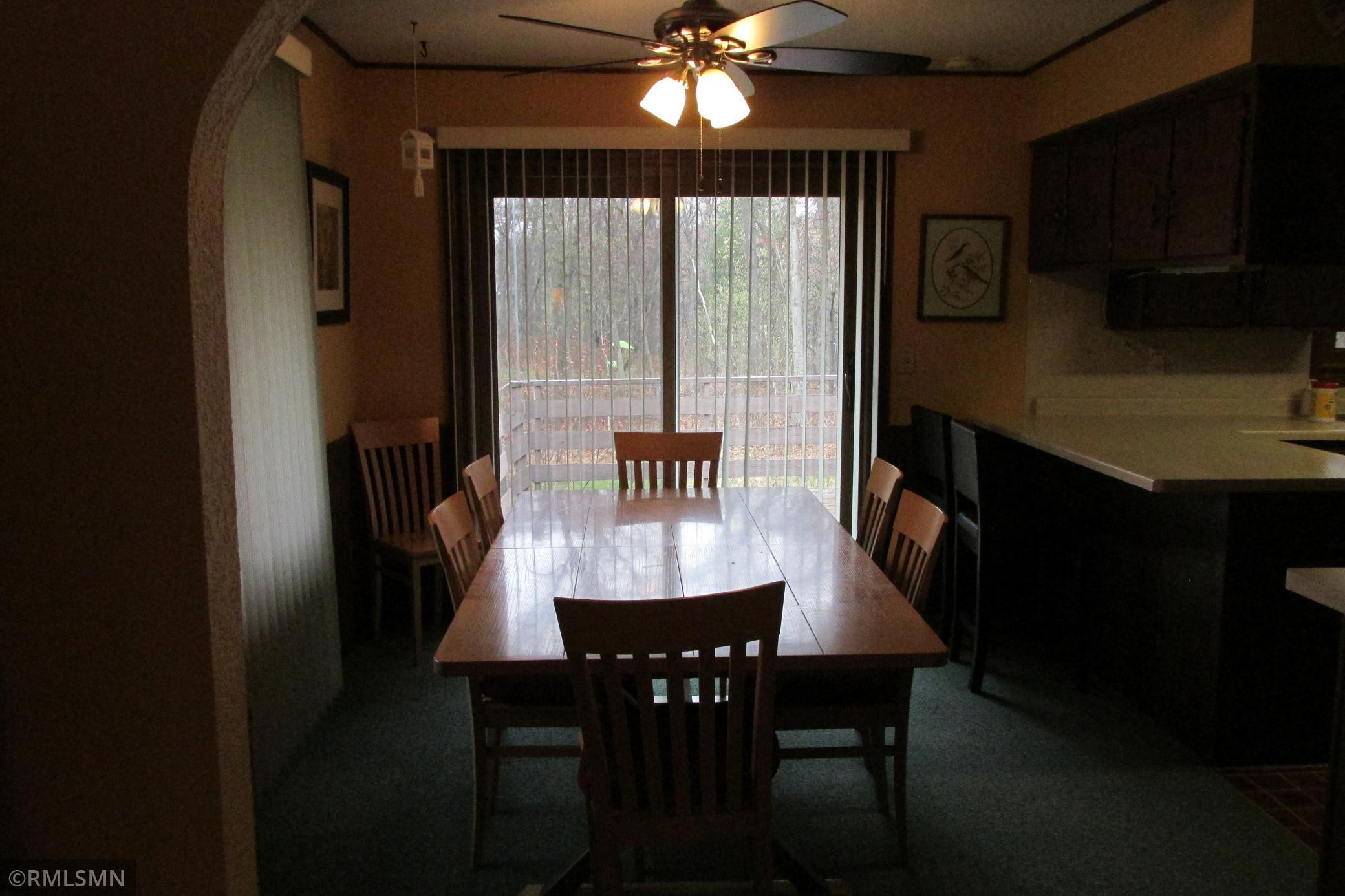 Room for a large dining room table, and walkout to deck.