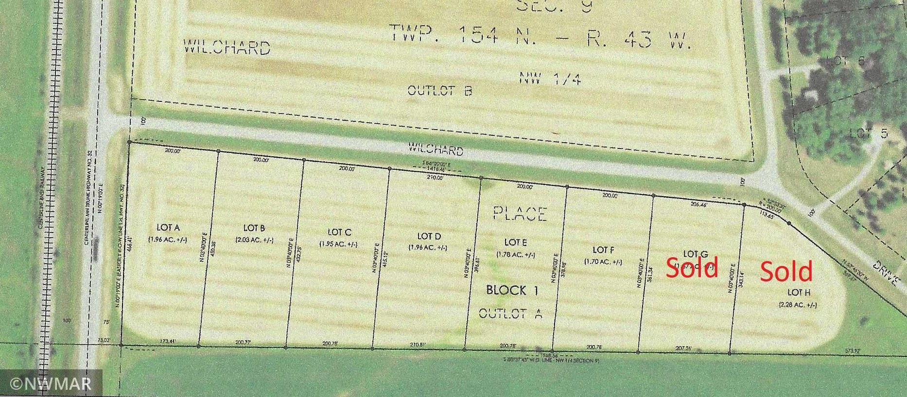 Replat of outlot A, Willchard Place Subdivision