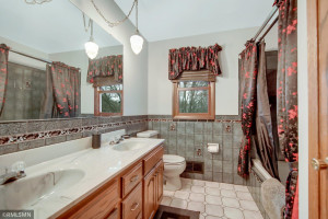 Take a Bubble Bath in the Jacuzzi Tub; Double Sinks Too!