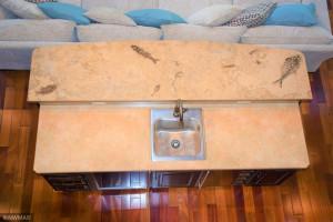 Livingroom Wet Bar Rare Fossil Counter Top 3
