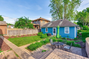 Private backyard with patio space perfect for entertaining!