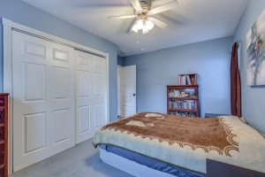 Large master bedroom with great closet space!