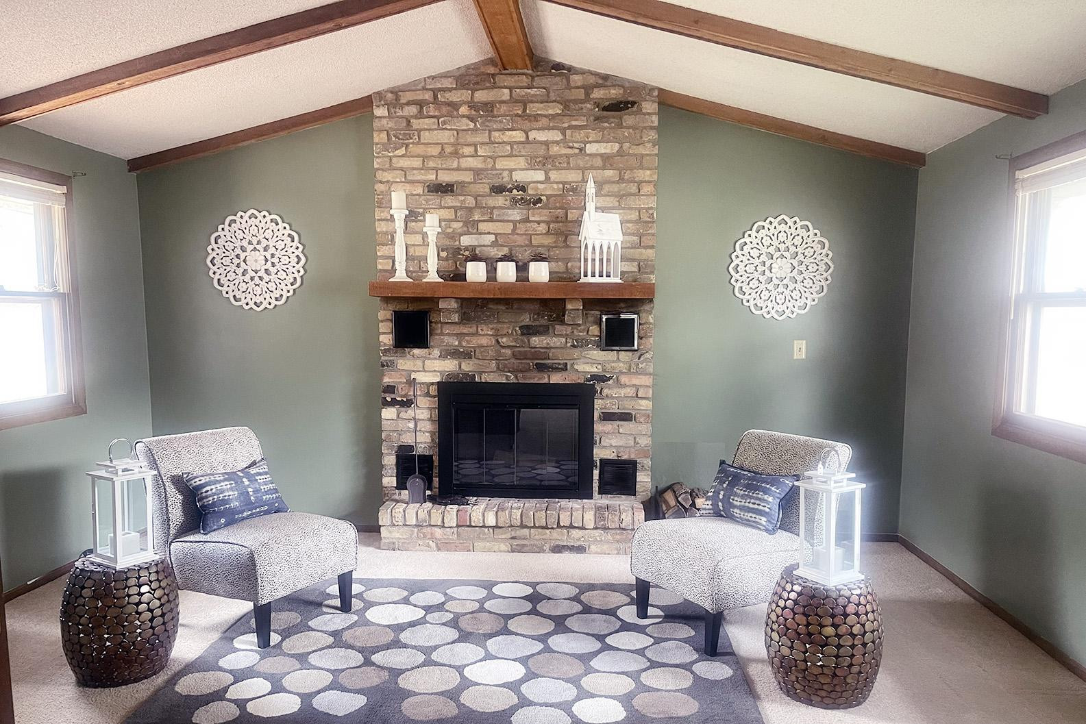 Hard-to-find main floor family room with great flow