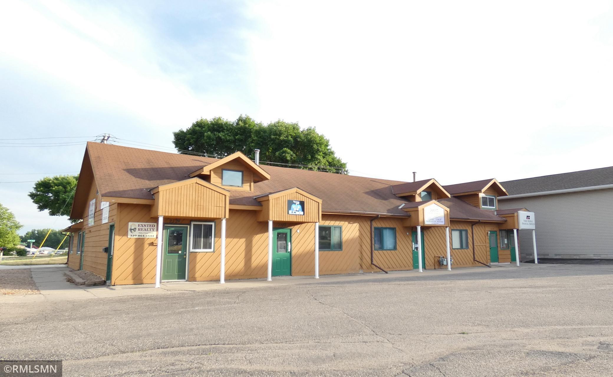 Great investment property with five business units and one upper level residential unit.