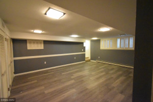 The large family room is on the lower level.