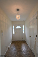 The front entryway takes you into the living room.