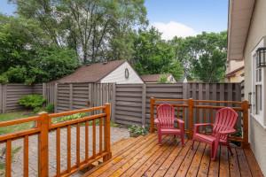 New Cedar wood deck with redwood framing.