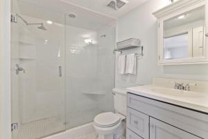 Second floor 3/4 bathroom with walk-in shower.