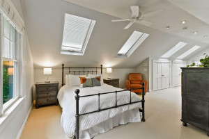 4 skylights in bright and airy owner's suite.