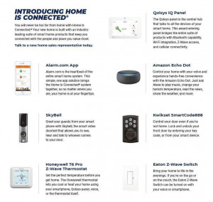 Your new home is connected, as the modern home design meets modern-day technology with a Smart Home package that will include everything in the photo and enhance the ways you experience your new home!