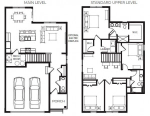 The layout of the floor plan makes so much sense, and flows seamlessly from one room to the other throughout both the main and upper levels! Please note, the main level mechanical space moves to the lower level and will be a pantry closet!