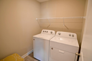 Awwwwe, life's simple pleasures: This one in the form of second story laundry! (Photos of the same floorplan, colors may vary).