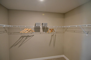 And then there is this: The walk-in closet you deserve!! (Photos of the same floorplan, colors may vary).