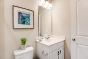 Toward the front of the home, situated between the spare bedrooms, you will find a full bathroom! *Photo of previous model, selections will vary.