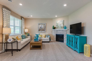 Another peak at the main level family room. Cozy and spacious, all in one! *Photo of previous model, selections will vary.