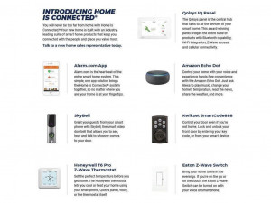 Smart home technology included in every home.