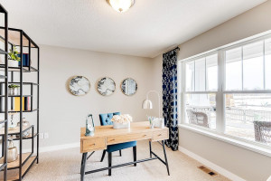 Main floor office or flex room, includes double French doors.