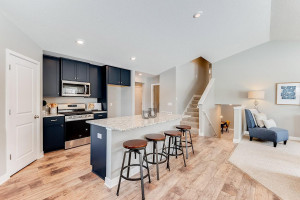 Open main floor is perfect for family time or entertaining.